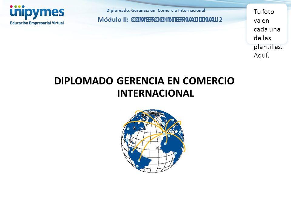 Diplomado: Gerencia en Comercio Internacional Módulo II: COMERCIO INTERNACIONAL 2 Diplomado: Gerencia en Comercio Internacional Módulo I: COMERCIO INT