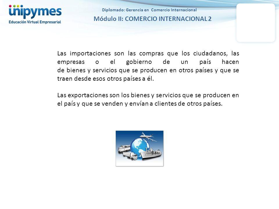 Diplomado: Gerencia en Comercio Internacional Módulo II: COMERCIO INTERNACIONAL 2 Las importaciones son las compras que los ciudadanos, las empresas o