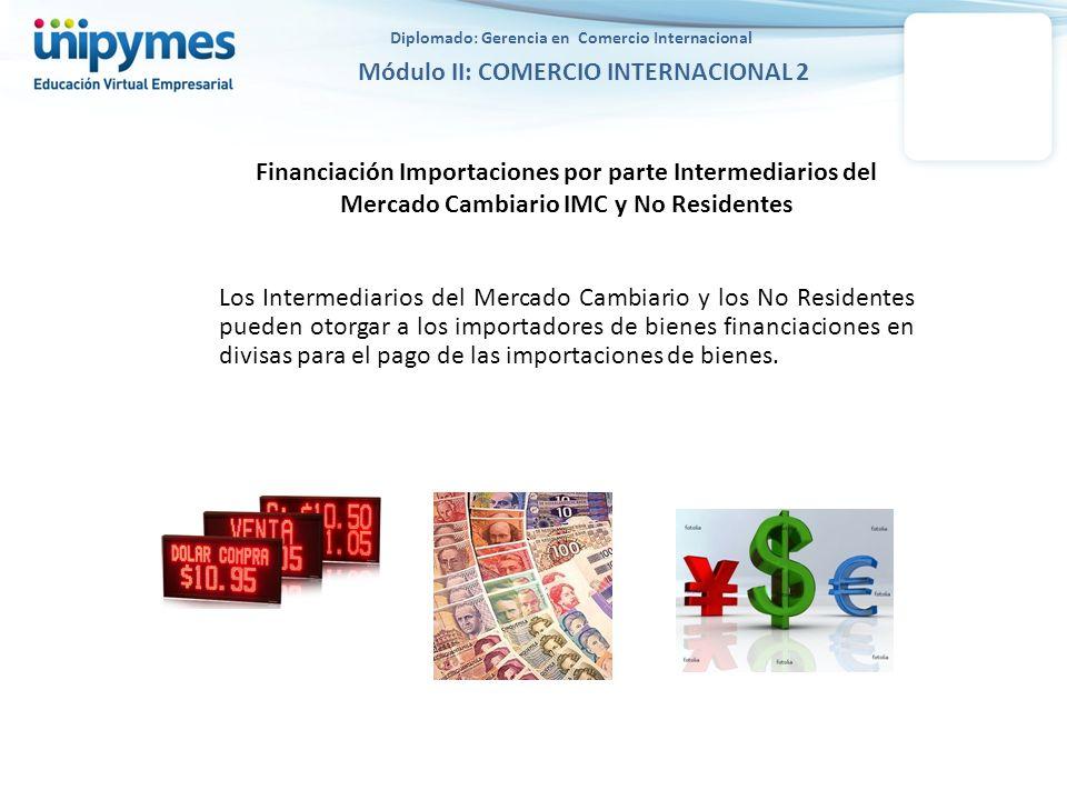 Diplomado: Gerencia en Comercio Internacional Módulo II: COMERCIO INTERNACIONAL 2 Financiación Importaciones por parte Intermediarios del Mercado Camb