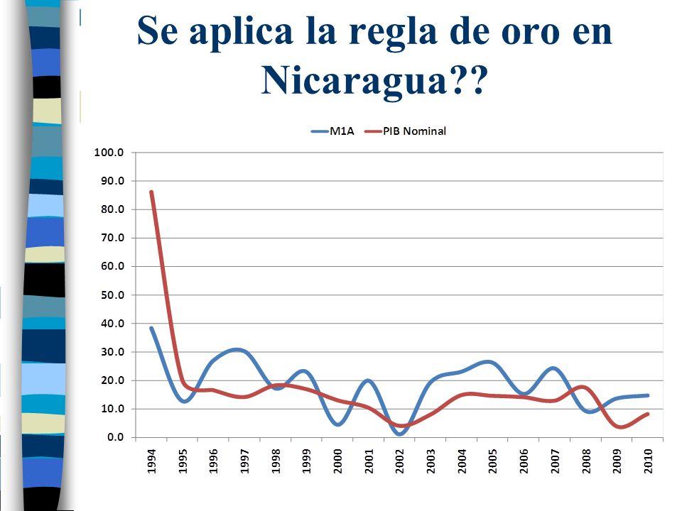 Se aplica la regla de oro en Nicaragua??