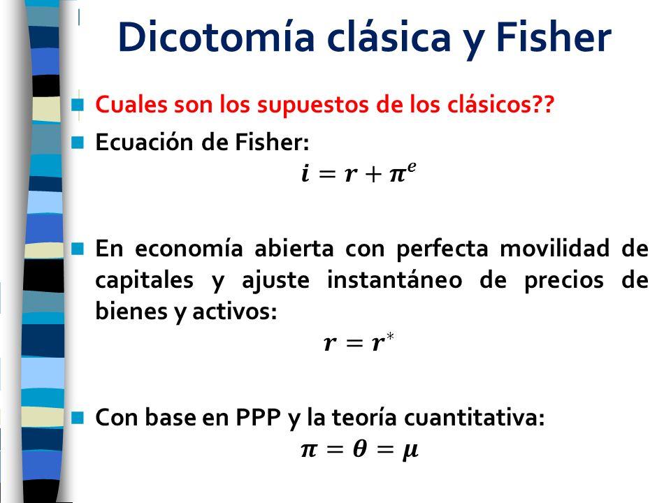 Dicotomía clásica y Fisher