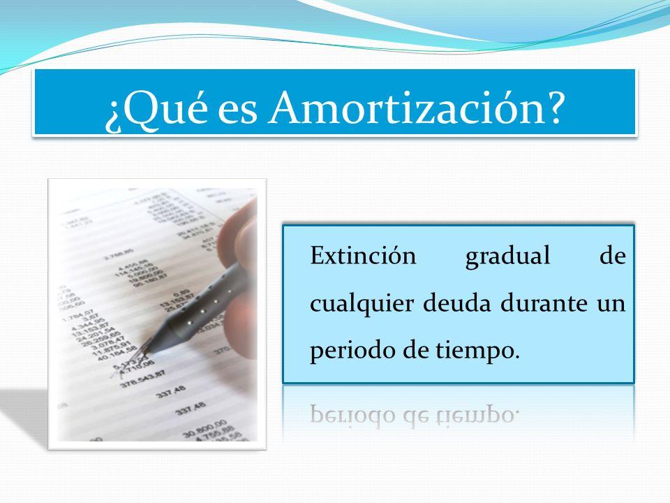¿Qué es Amortización?