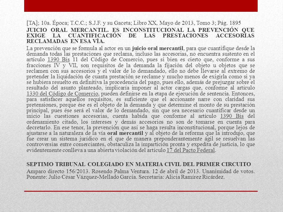 [TA]; 9a.Época; T.C.C.; S.J.F. y su Gaceta; Tomo XXXIII, Marzo de 2011; Pág.