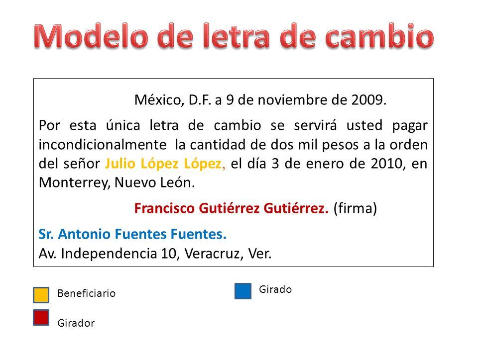 México, D.F. a 9 de noviembre de 2009.