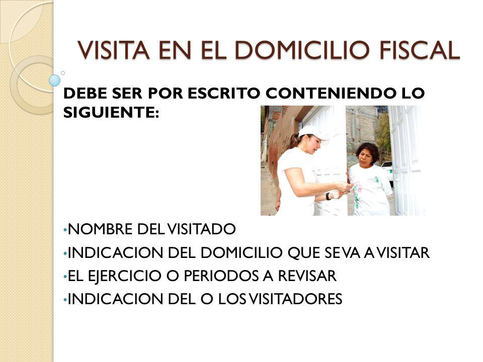 DESARROLLO DE LAS VISITAS ART.