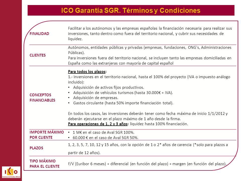 ICO Garantía SGR.
