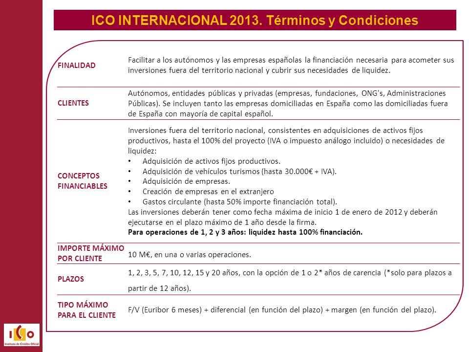 ICO INTERNACIONAL 2013.