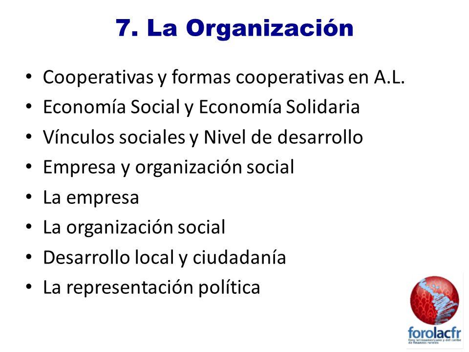 7.La Organización Cooperativas y formas cooperativas en A.L.