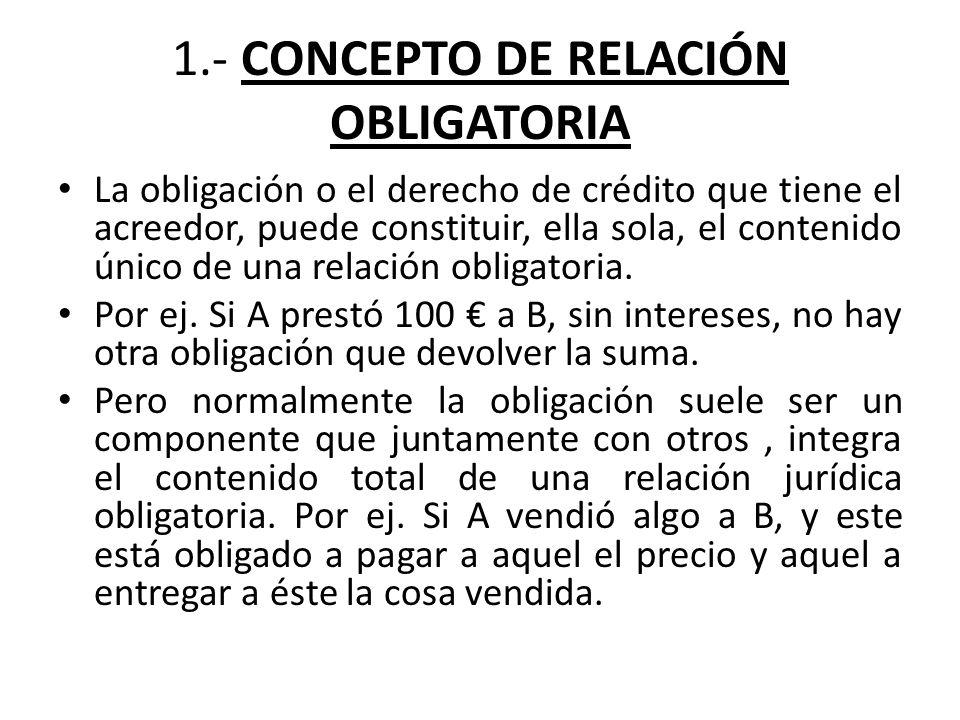 2.-CARACTERÍSTICAS DE LA RELACIÓN OBLIGATORIA 1º.- El dinamismo.
