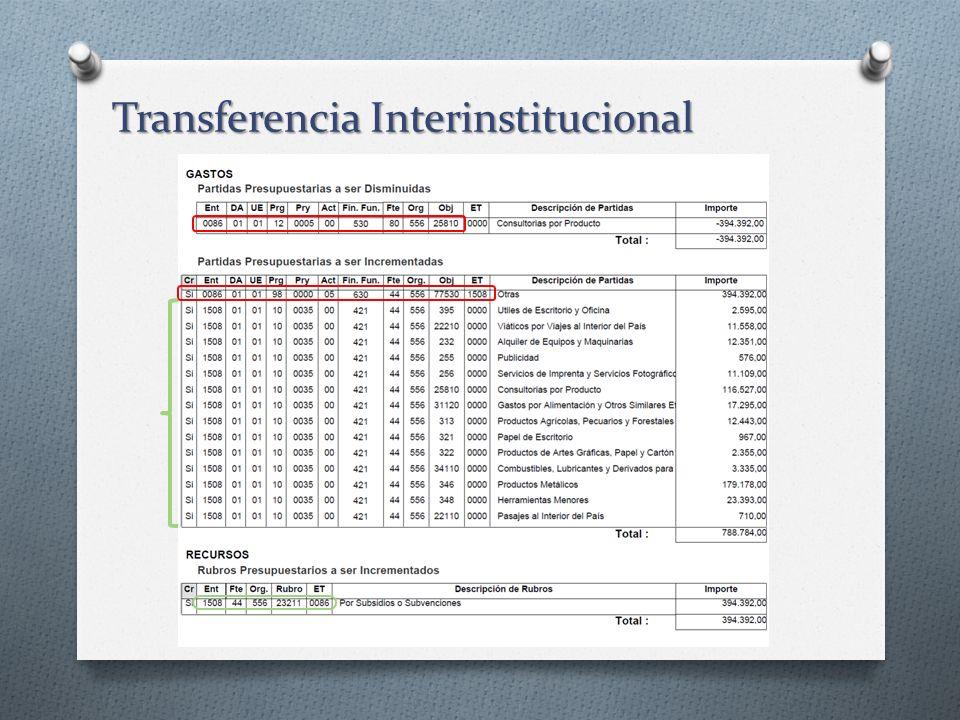 Transferencia Interinstitucional