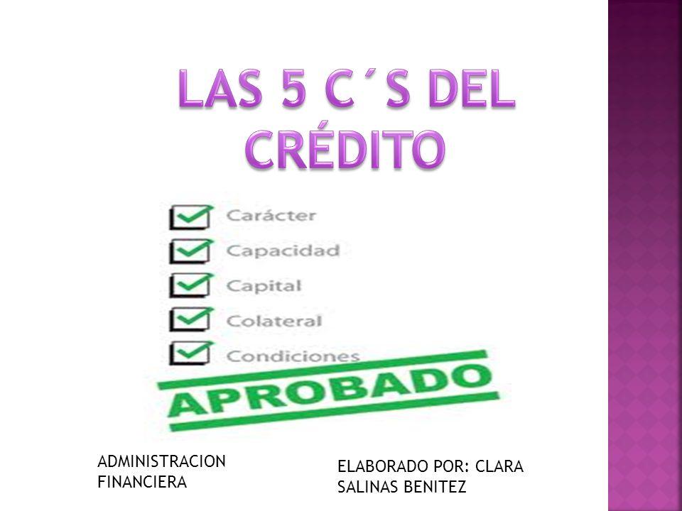 ADMINISTRACION FINANCIERA ELABORADO POR: CLARA SALINAS BENITEZ