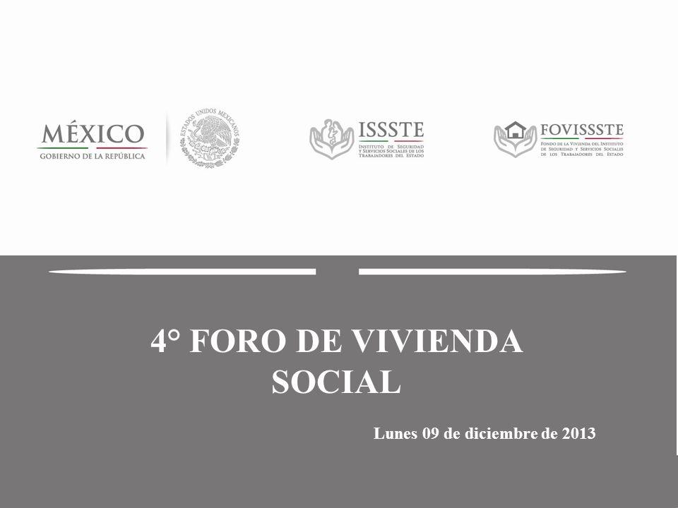 Titulo (1) Subdirección de Administración Jefatura de Servicios de Recursos Humanos 4° FORO DE VIVIENDA SOCIAL Lunes 09 de diciembre de 2013
