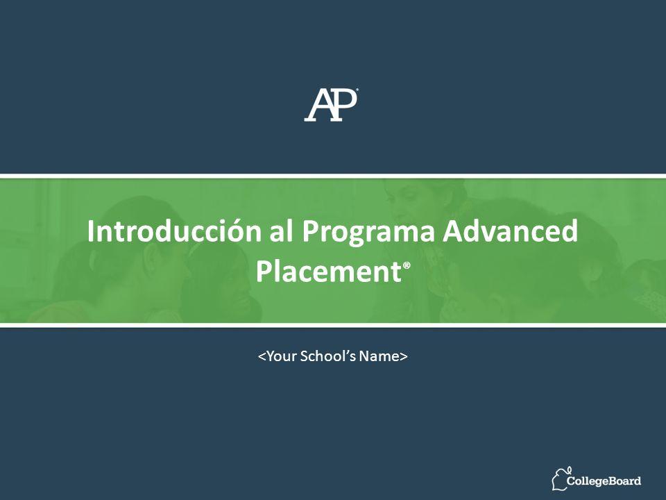 Introducción al Programa Advanced Placement ®