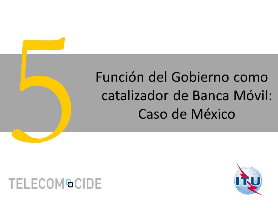Función del Gobierno como catalizador de Banca Móvil: Caso de México 5