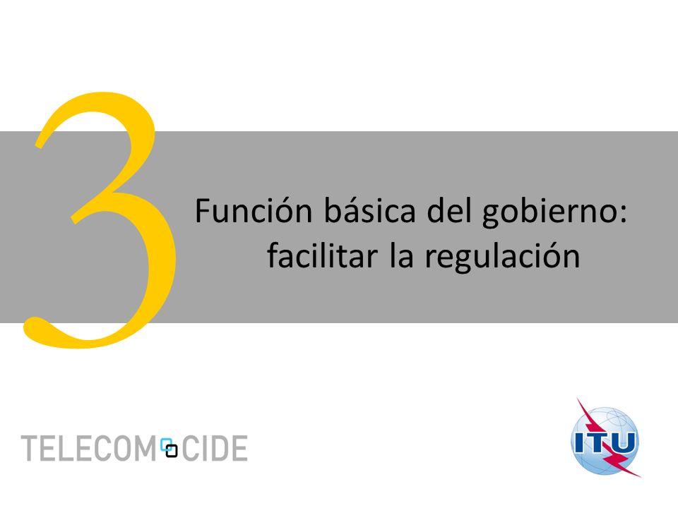 Función básica del gobierno: facilitar la regulación 3