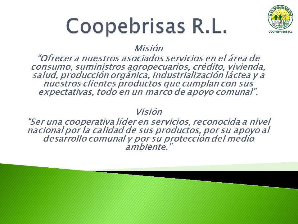Misión Ofrecer a nuestros asociados servicios en el área de consumo, suministros agropecuarios, crédito, vivienda, salud, producción orgánica, industr