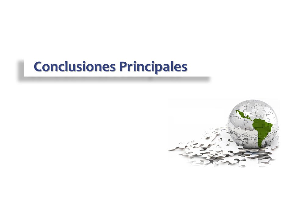 Conclusiones Principales Conclusiones Principales