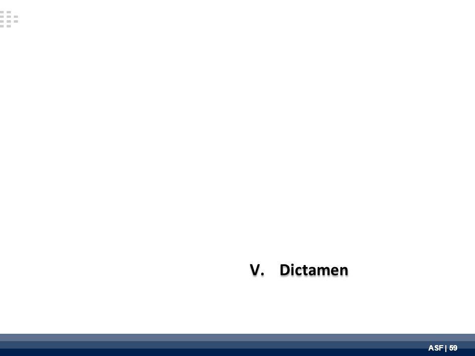 ASF | 59 V.Dictamen