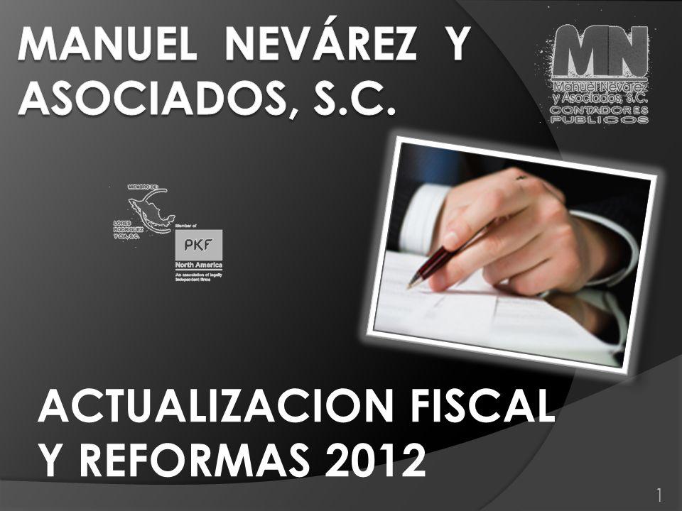 1 ACTUALIZACION FISCAL Y REFORMAS 2012