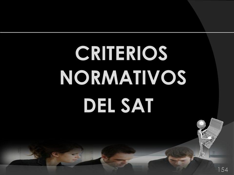 CRITERIOS NORMATIVOS DEL SAT 154