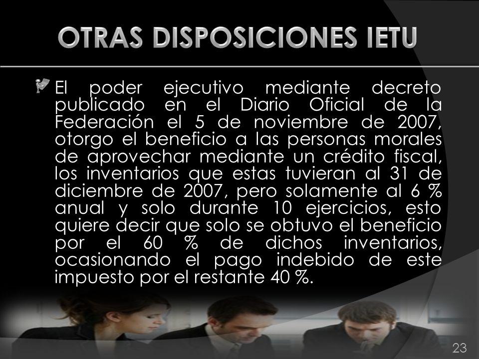 El poder ejecutivo mediante decreto publicado en el Diario Oficial de la Federación el 5 de noviembre de 2007, otorgo el beneficio a las personas mora