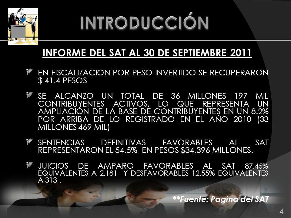 CRITERIOS NORMATIVOS DEL SAT 8/2011/CFF ACTUALIZACIÓN.
