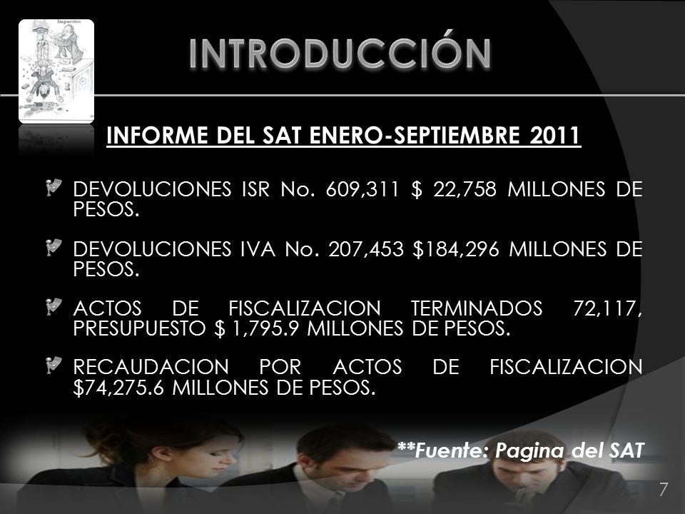 CREDITOS FISCALES AL 30 SEPTIEMBRE 2011: POR AUTORIDAD GENERADORA : No.