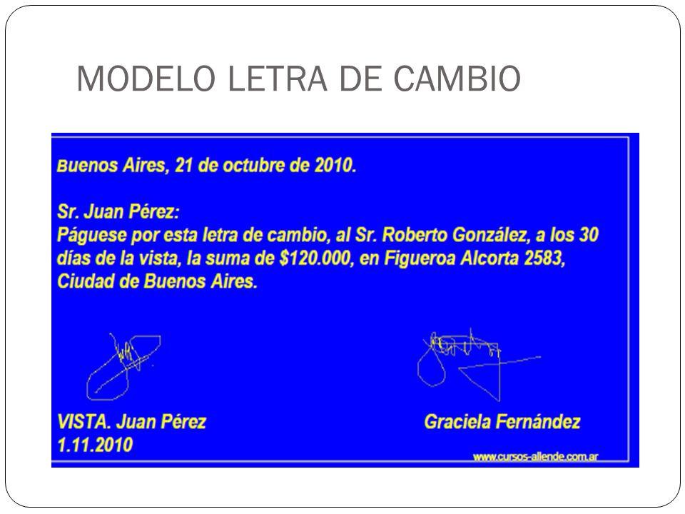 MODELO LETRA DE CAMBIO