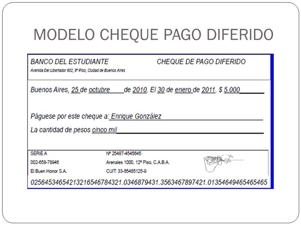 MODELO CHEQUE PAGO DIFERIDO