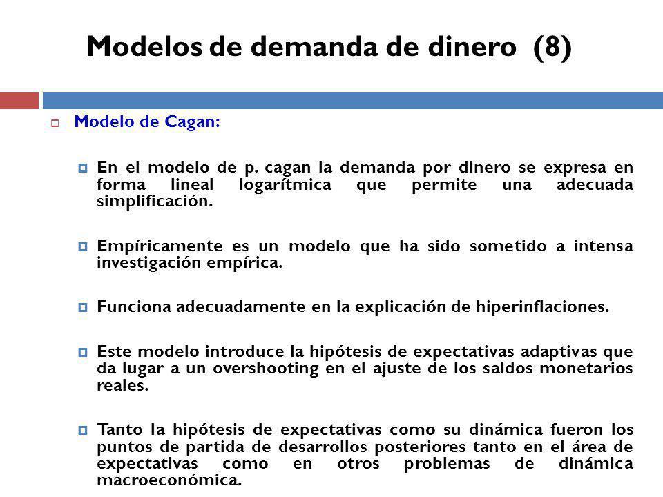 Modelo de Cagan: En el modelo de p.