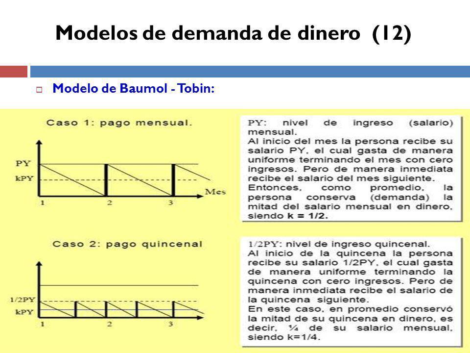 Modelo de Baumol - Tobin: Modelos de demanda de dinero (12)