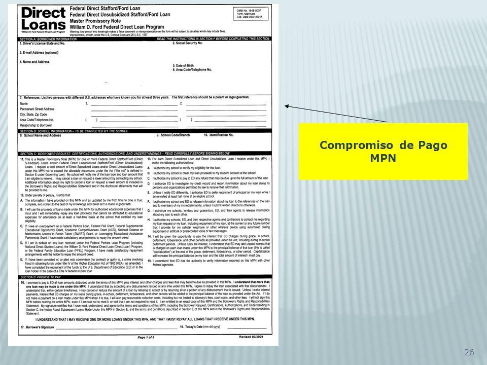 26 Compromiso de Pago MPN