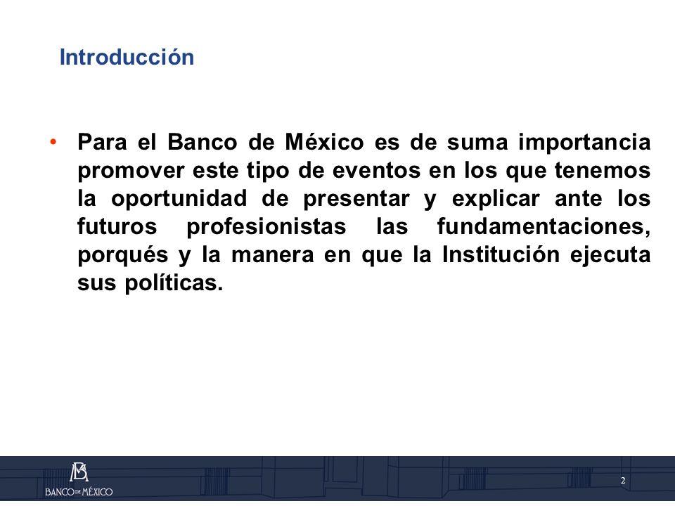 3 Índice IAntecedentes IIEl Banco de México lIIDinero IVLa Inflación y la Política Monetaria VIntermediación y sistema financiero VIEstabilidad Financiera VIISistema de Pagos VIIIConsideraciones finales