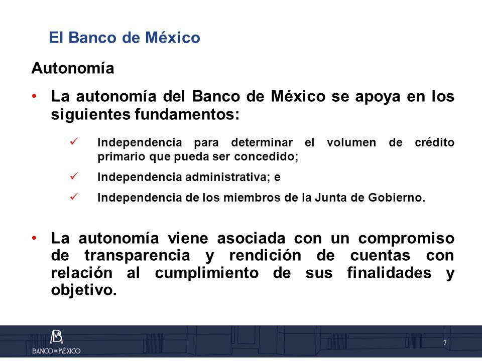 8 Autonomía Independencia de los miembros de la Junta de Gobierno.