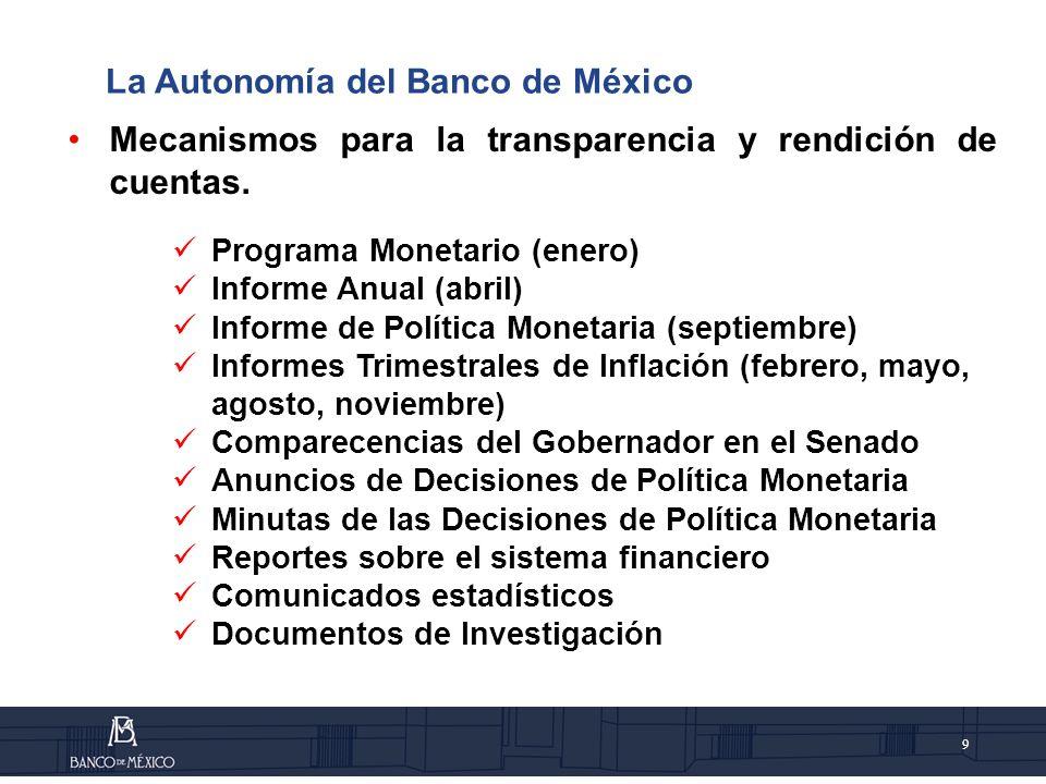9 Mecanismos para la transparencia y rendición de cuentas.