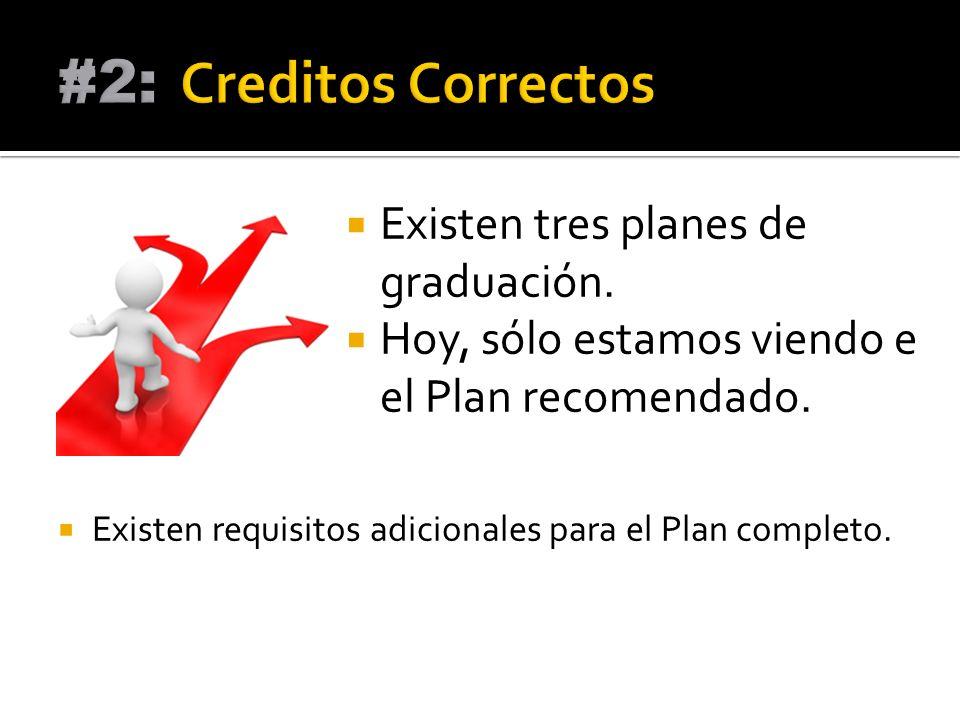 Los cursos que se enumeran en la parte frontal de la hoja rosa son los cursos necesarios para el plan de 26 créditos.