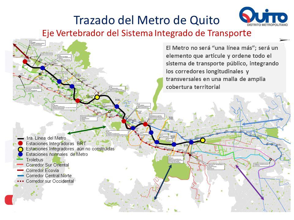 El Metro no es una línea más; es un elemento que articula y ordena todo el sistema de transporte público, integrando los corredores longitudinales y t