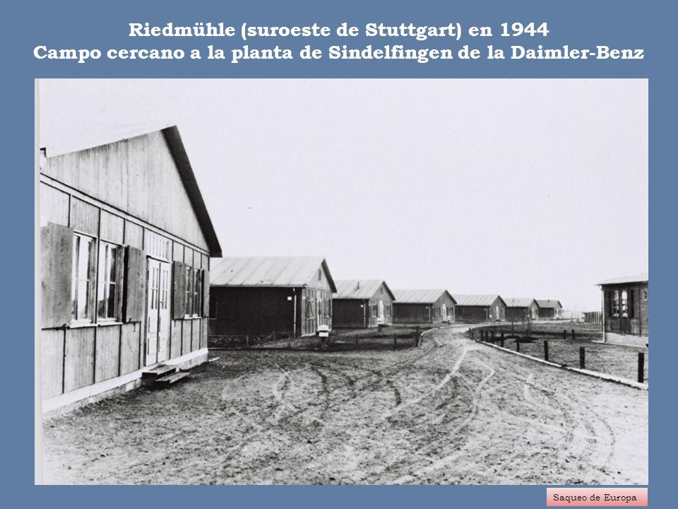 TRABAJO ESCLAVO DE LOS EXTRANJEROS El beneficio del Reich Saqueo de Europa Entre los años 1938 a 1944, se obtuvieron unos ingresos mínimos de 13.000 millones de RM.