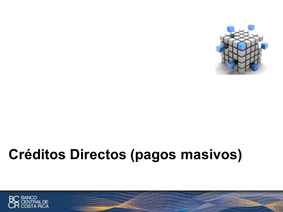 Créditos Directos (pagos masivos)