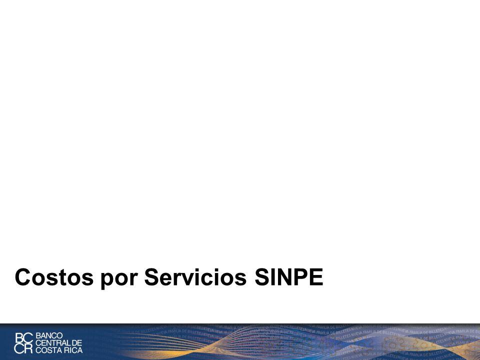 Costos por Servicios SINPE
