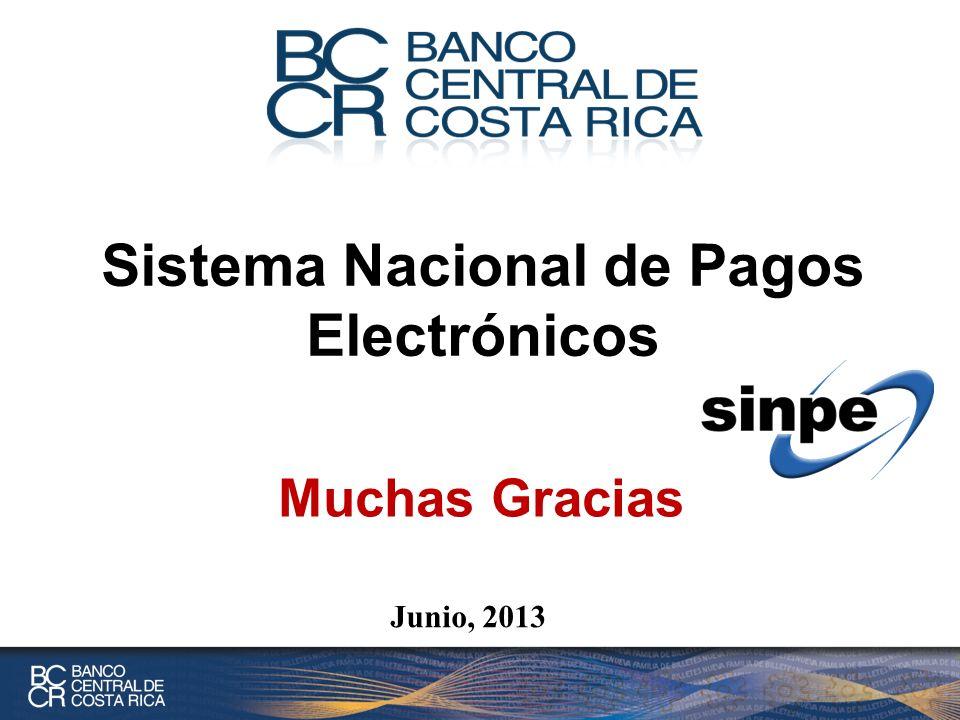 Junio, 2013 Sistema Nacional de Pagos Electrónicos Muchas Gracias