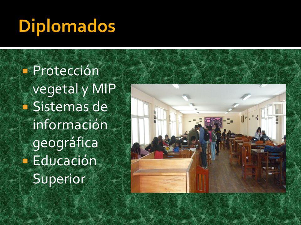 Protección vegetal y MIP Sistemas de información geográfica Educación Superior