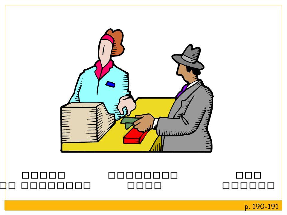 ir de compras la tarjeta de crédito el precio fijo p. 190-191