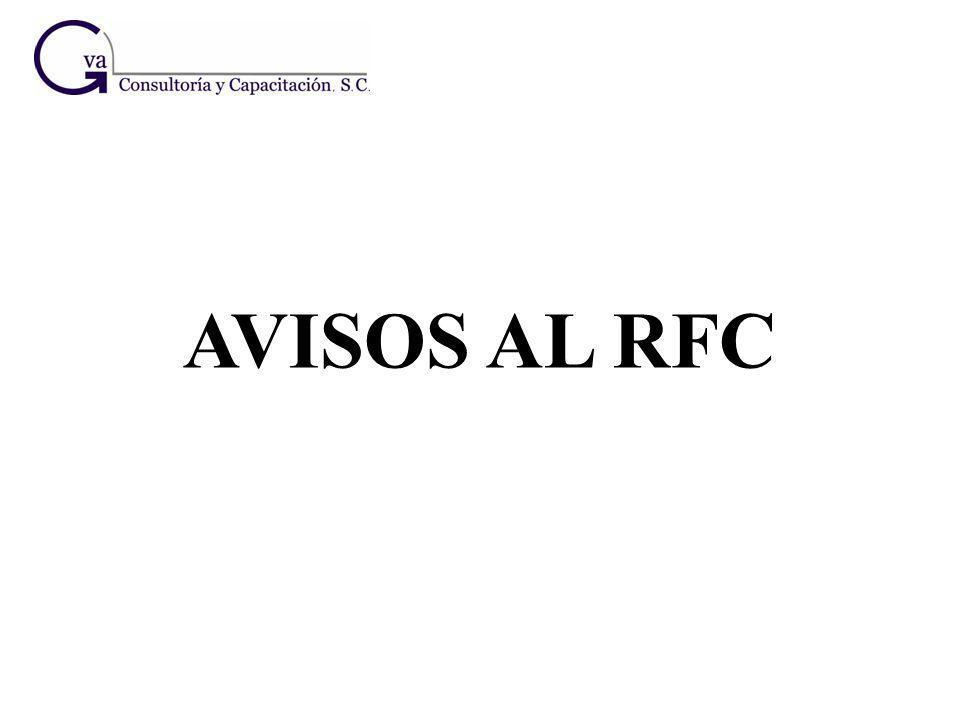 AVISOS AL RFC
