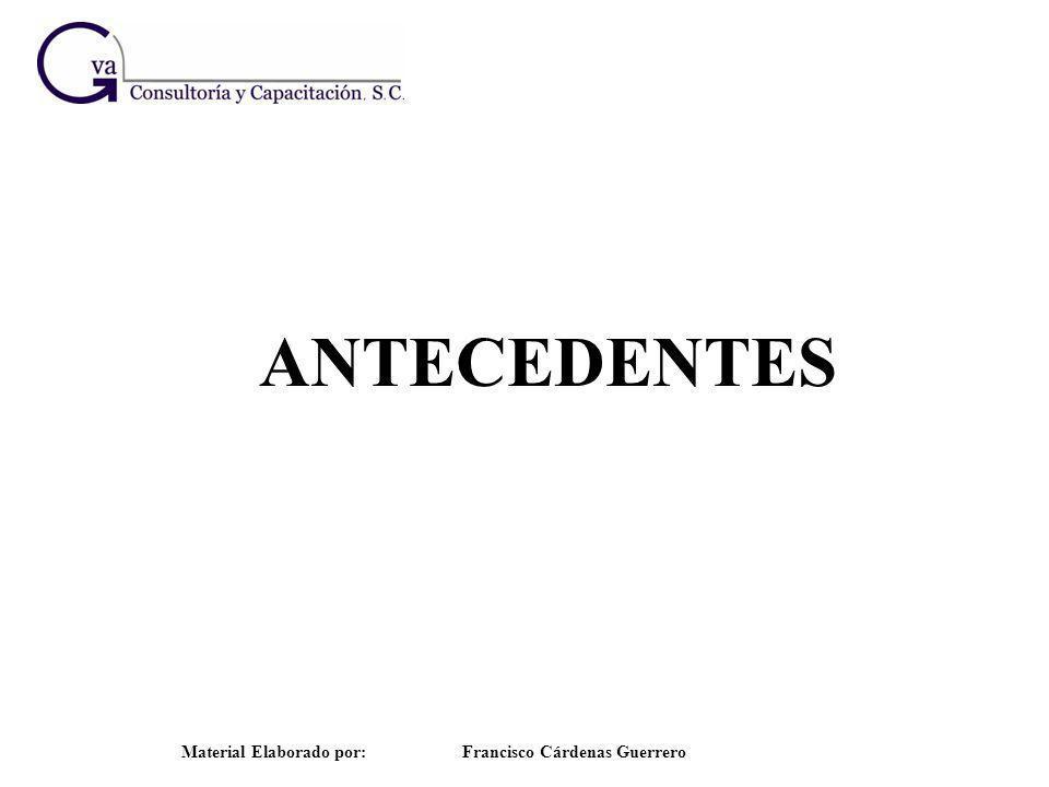 ANTECEDENTES Material Elaborado por: Francisco Cárdenas Guerrero