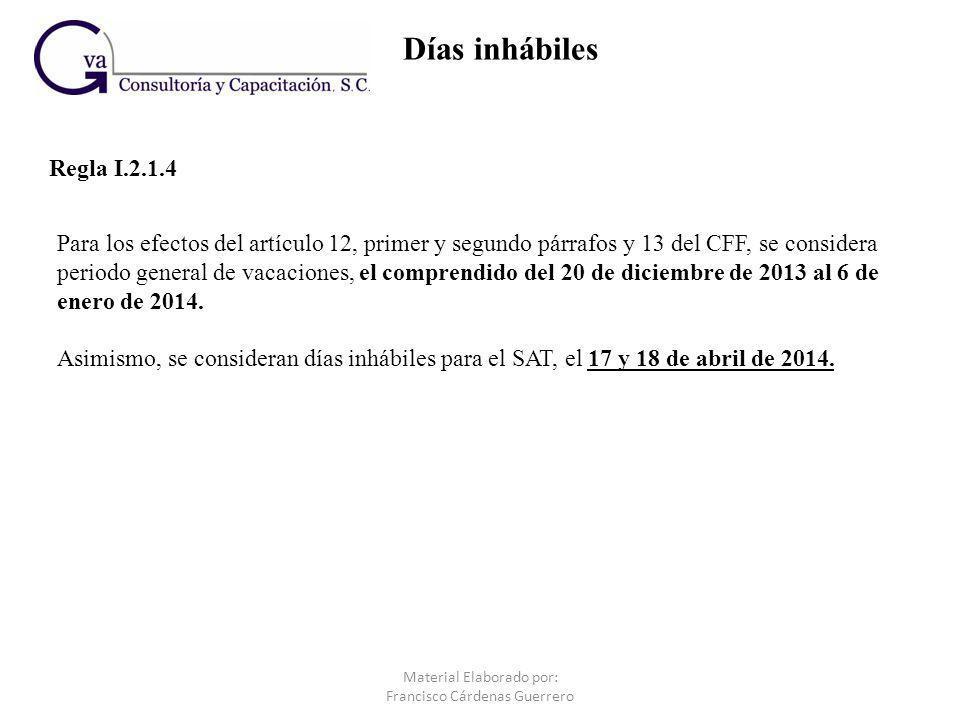 Opción de acumulación de ingresos para tiempos compartidos y servicios de hospedaje (Regla I.3.2.3 adicionada en esta RMF 2014) III.