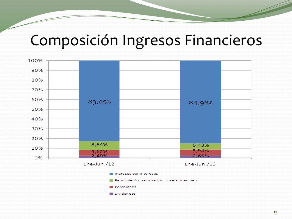 Composición Ingresos Financieros 13
