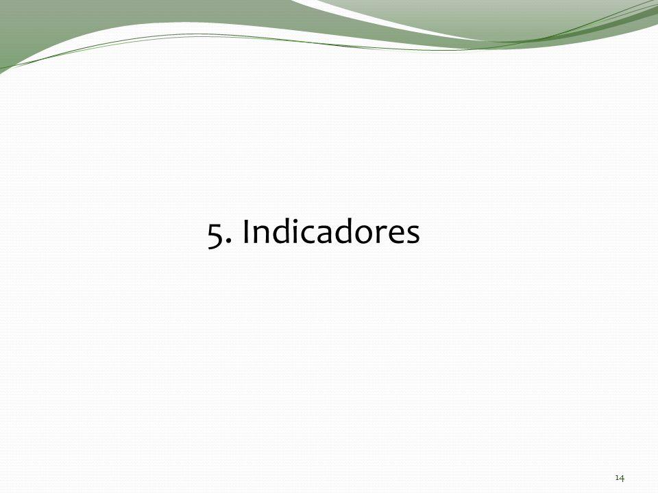 14 5. Indicadores