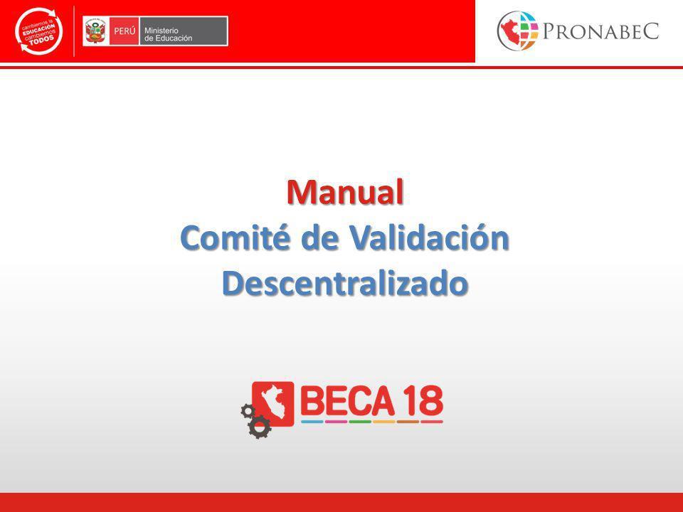 Manual Comité de Validación Descentralizado
