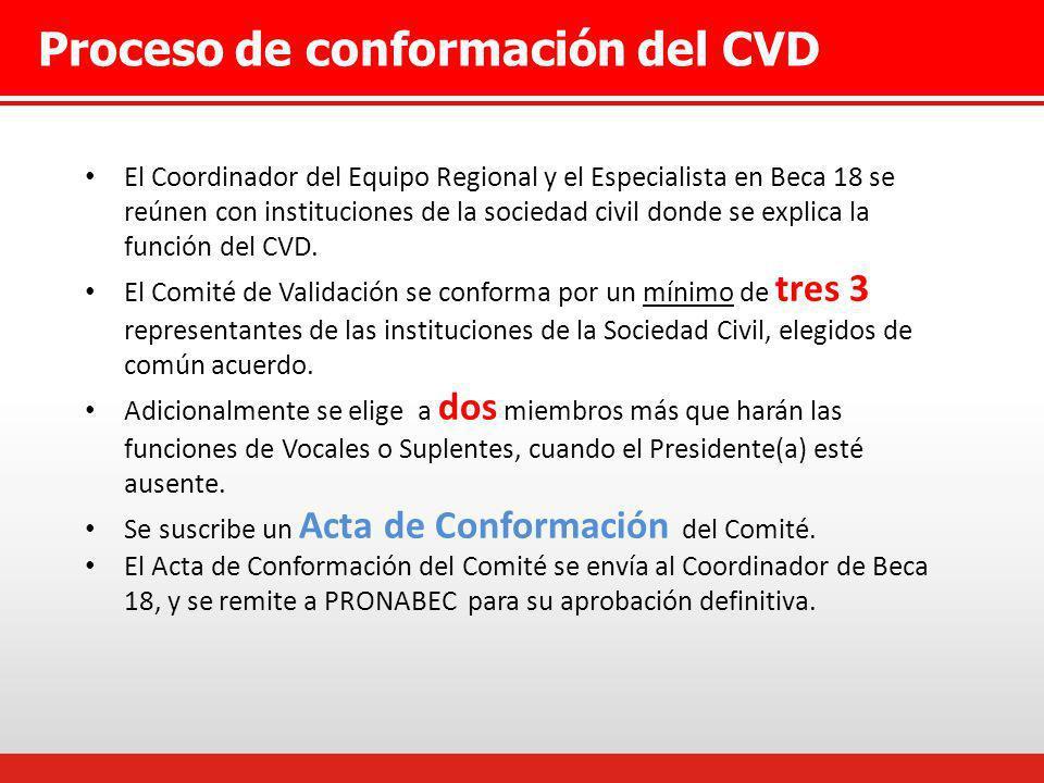 Proceso de conformación del CVD El Coordinador del Equipo Regional y el Especialista en Beca 18 se reúnen con instituciones de la sociedad civil donde